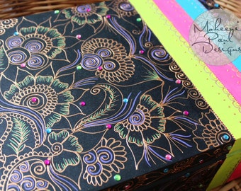 Arabian Nights Large Wooden Henna Box