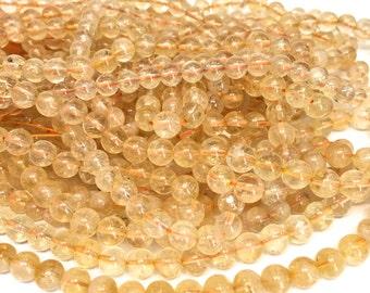 "7mm Genuine Citrine Gemstone Full 15.5"" Strand (62 beads)"
