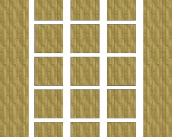 DiY Template, 1 inch squares, Digital Download, Squares College Sheet, Square Cabochons, 25mm