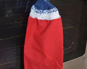Red White and Blue Kitchen Towel