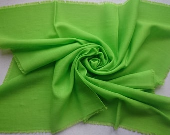 LIME GREEN Kreier of Switzerland 100% Wool Square Scarf - Large Amount of Stunning Scarves From Vintage 1970/1980 Stock