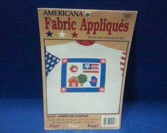 Iron-on Fabric Applique Kit- American Sampler
