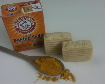 BAKING SODA & TURMERIC  handmade  soaps
