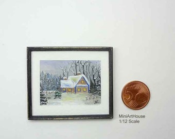 "Hand Painted ""Winter landscape"" Original Painting"
