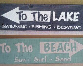 Lake Arrow Wood Sign