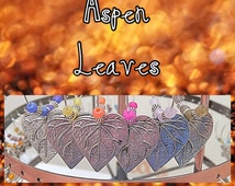"""Set of 5 Leaf Wine Charms- """"Aspen Leaves"""" Collection"""