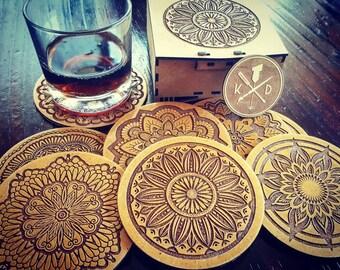 Mandala Pattern Coasters + Gift Box