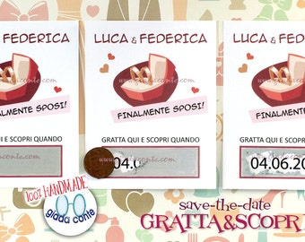 Save-the-date SCRATCH & DISCOVER-set 20 pieces