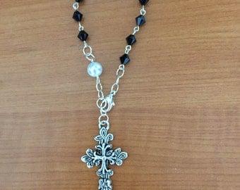 Black Jet Bracelet Rosary