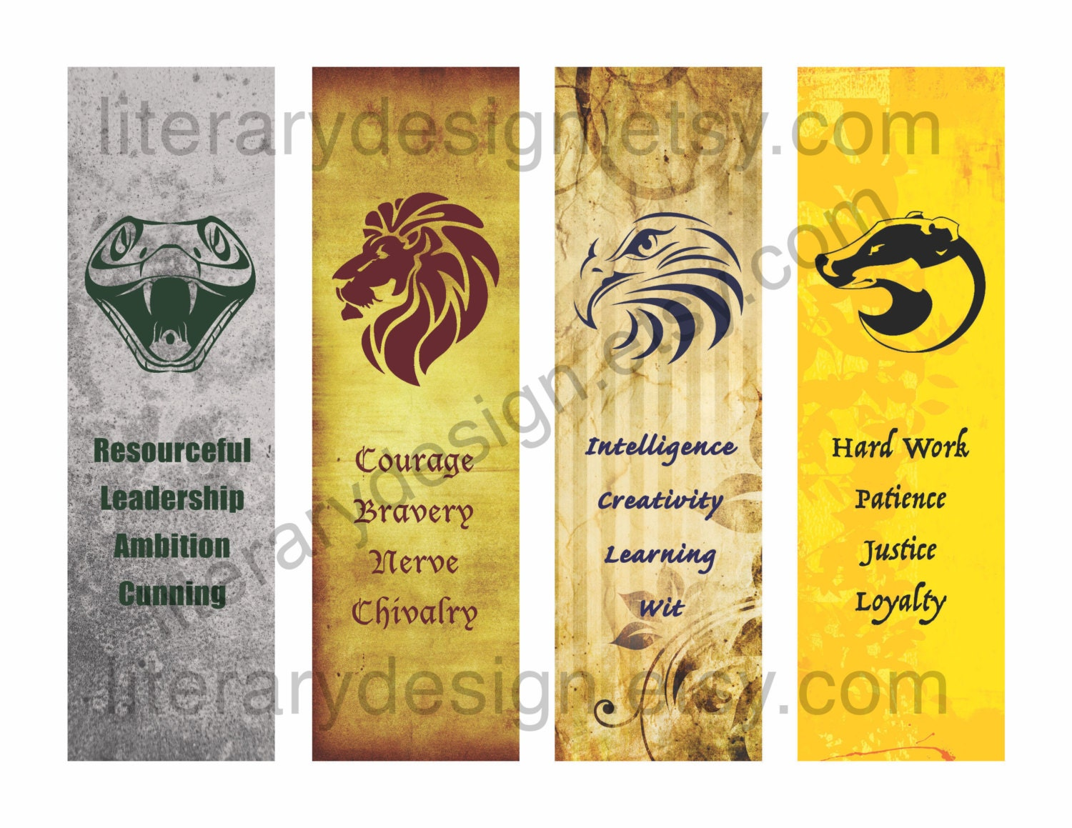 Harry Potter Bookmarks ~ Printable bookmarks harry potter pixshark