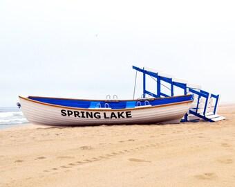Jersey Shore Prints, Fine Art Print, Colors, Beach, Beach Photography, Lifeguard Stand, Boats, Ocean Prints, Beach Prints