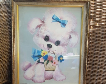 1970 Colonial Studios Pink Poodle Big Eye