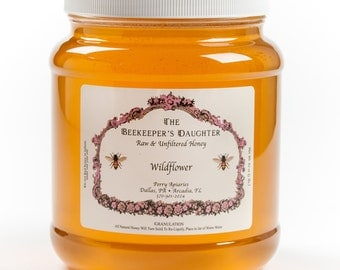 Raw Wildflower Honey - 5 lb Jar