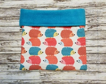 Hedgie Bag / Snuggle Sack / Snuggle Pouch / Cuddle Sack / Cuddle Pouch - Stacked Hedgehogs Flannel