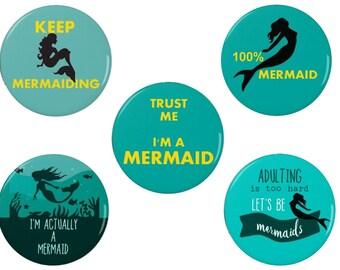 Mermaid Badges/Magnets - 100% Mermaid - Mermaiding