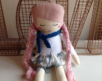 SALE - Girl cloth doll #3 by Kk and Boo