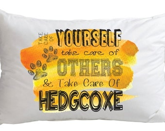 Take Care of Hedgcoxe Pillow
