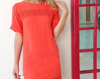 RENEE- Lace detail tunic dress