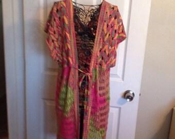 Multicolor long vest
