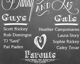 Framed Chalk Board Welcome Sign