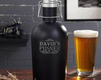 Blackout Custom Beer Growler - Featuring Our Cassidy Design - Holds 64 oz. of Your Favorite Craft Beers - Ideal Beer Gifts for Beer Lovers
