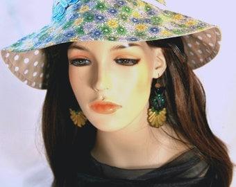 Girl's Butterfly & Daisy Sun hat