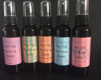 Dry oil perfume spray