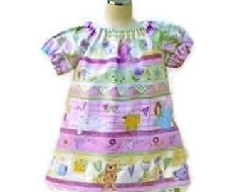 "Peasant dress for baby girls, Clothing for baby girls, size 0-3 months, ""Ready to ship"" (Free Matching Diaper cover)"