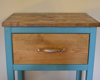 Painted & Stained Nightstands - Paradise Landscape Variation