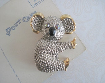 Koala Bear Brooch, Vintage Koala Bear Brooch Pin, Koala Brooch, Animal Brooch, Figural Pin