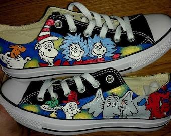 Dr. Seuss Hand Painted Custom Sneakers