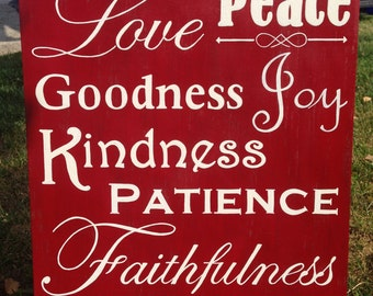 The Fruit of the Spirit Sign