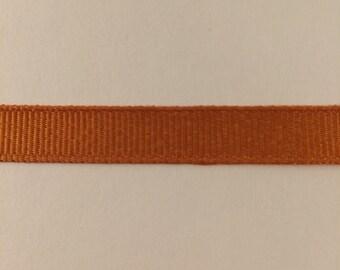 3/8 inch ginger orange grosgrain ribbon offray