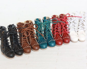 British retro boots for Blythe/DAL/Pullip/Momoko/AZONE/JerryBerry