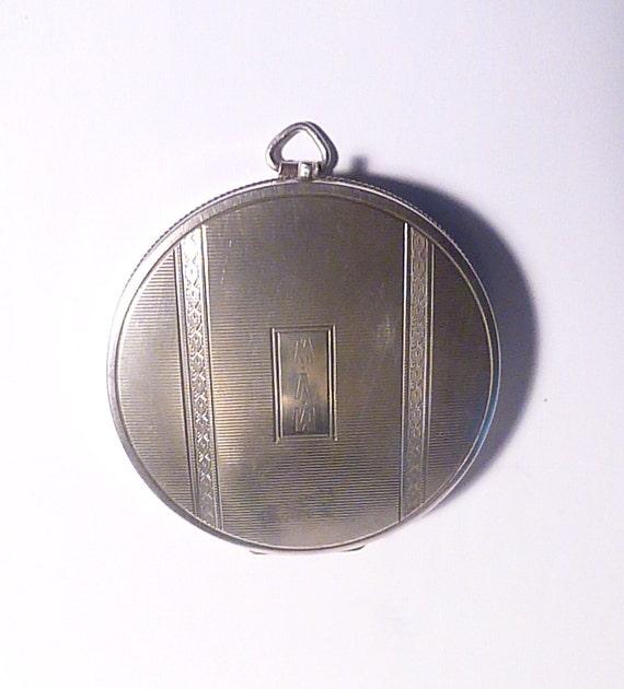 Antique Silver Compact Mirrors R Blackington Amp Co Novelty Fob