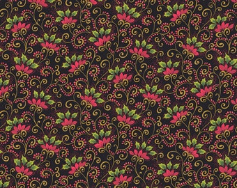 Poinsettia Christmas Small   Andover Cotton Quilt Fabric    BFab    By the Yard
