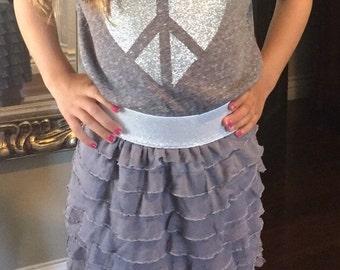 Ruffle/waterfall skirt