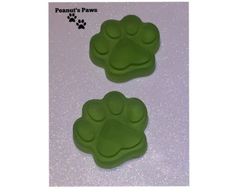 4 Green Paw Print Hand and Body Soap