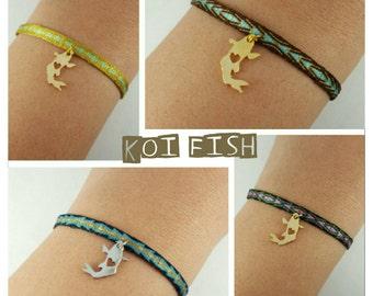 KOI FISH hand woven bracelet!!