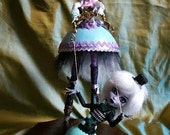 One of a Kind 12 inch Ostrich  and Goose Egg Doll Art