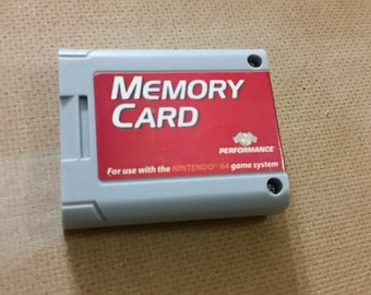 Memory Card for Nintendo 64 N64 Video game console.
