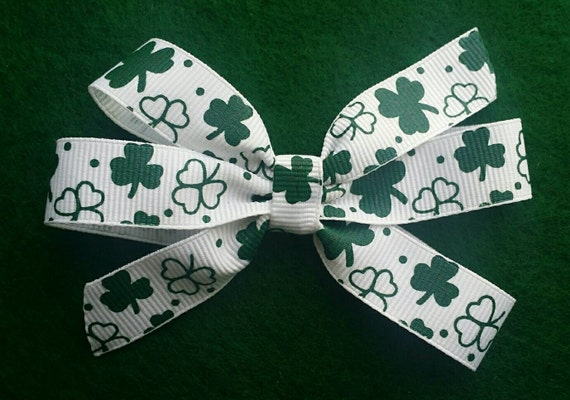 St Patrick's Day Hairbow