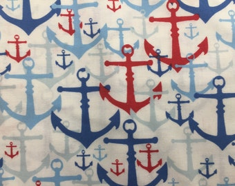 Red, White, Blue, Anchor window valance