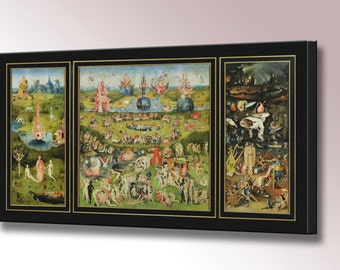 Garden of Earthly Delights Canvas Print by Hieronymus Bosch Framed Ready To Hang Wall Art Picture