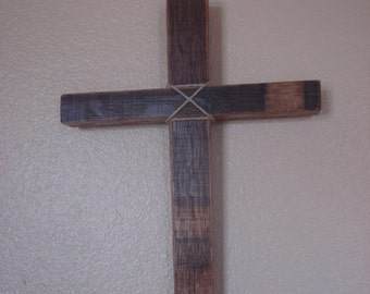 Hand crafted Wine Barrel Cross