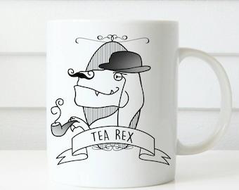 Vintage Tea Rex Dinosaur gift mug