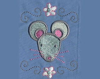 Cute Mouse Embroidery Design - Instant Digital Download
