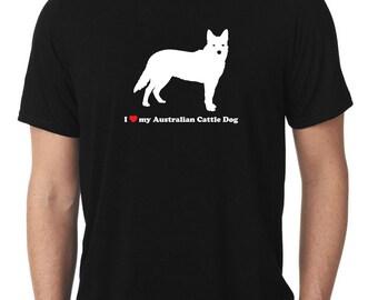 I Love My Australian Cattle Dog T-Shirt heeler T267