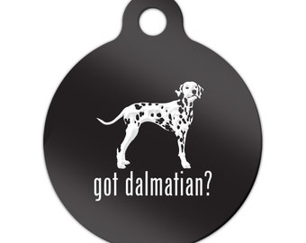 Got Dalmatian Engraved Round Key Chain Dog Tag dal - MRD-851