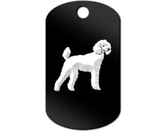 Poodle Engraved GI Tag Key Chain Dog Tag v2 standard - MDT-946